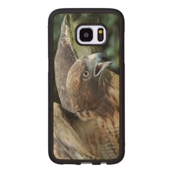 Red-tailed Hawk Photo Wood Samsung Galaxy S7 Edge Case