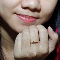 Personalized Name Ring - Fine Jewelry -  Handcrafted Ring - Word Ring  -  18K Gold Plated