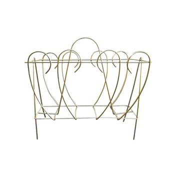 Pre-owned Vintage Polished Brass Magazine Rack