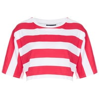 Bold Stripe Crop Tee - Jersey Tops - Clothing - Topshop USA
