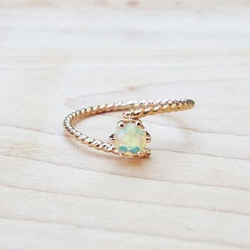 Opal Gold Ring Unique Cute Rings Handmade