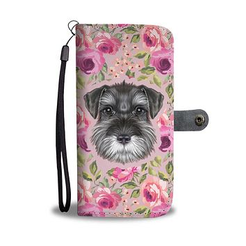 Schnauzer Puppy Wallet Phone Case