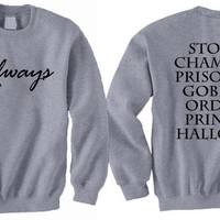 Always Harry Potter Book Movie Titles Inspired Sweatshirt T-shirt