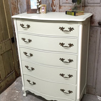 French Provincial Tall Dresser, Vintage Chest o...