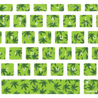 Weed Pattern Macbook Keyboard Stickers