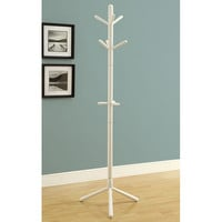 White Contemporary Solid Wood Coat Rack | Overstock.com Shopping - The Best Deals on Accent Pieces