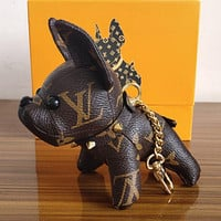 Louis Vuitton's adorable dog bag charm and key holder Coffee