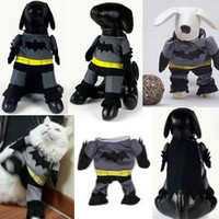 Pet Dog Clothes Batman Costume Outfit Cotton Jumpsuit Pants [7670545414]