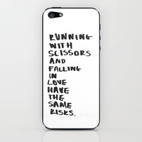 Risks of Falling iPhone & iPod Skin by Lucy Helena
