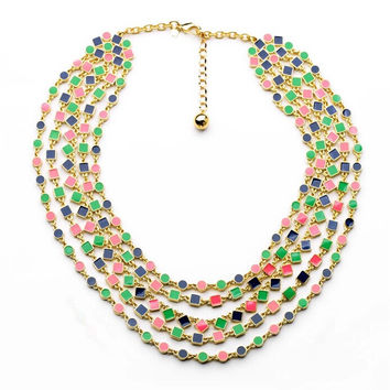 Geo Multi Statement Necklace