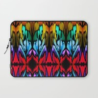 Parrot Patterns Laptop Sleeve by Holly Sharpe