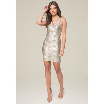 ANGELICA FOIL HARNESS DRESS