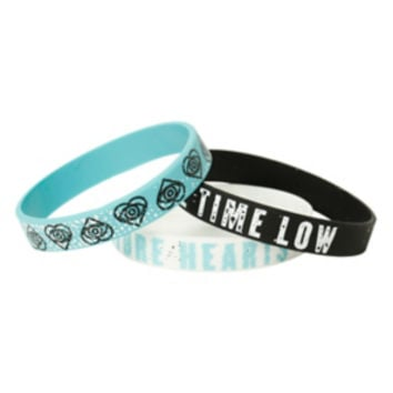All Time Low Future Hearts Rubber Bracelet 3 Pack