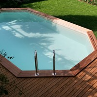 ABOVE-GROUND PINE SWIMMING POOL KIT AMBRA | ALCE