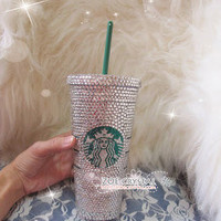 Stylish BLING Crystallized STARBUCKS Ceramic MUG