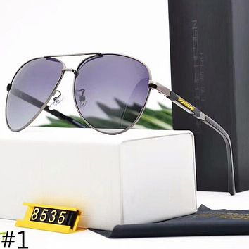 Porsche New Trend Fashion Men's Polarized Metal Large Frame Sunglasses F-A-SDYJ #1