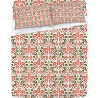 DENY Designs Home Accessories | Raven Jumpo Coral Damask Sheet Set