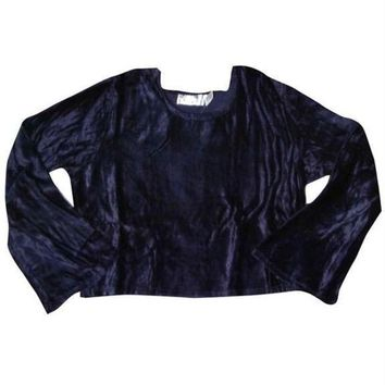 CUPUPWL Crushed Velvet Flare Blouse