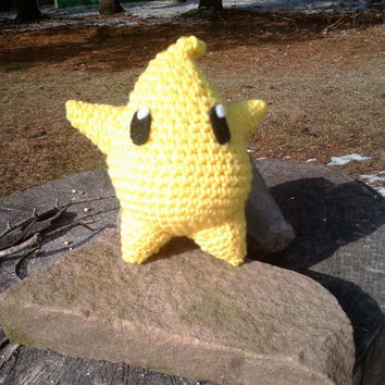 Mario Galaxy Inspired Luma Amigurumi Handmade by OwlPudding