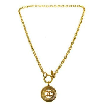 Chanel Logo Pendant Necklace
