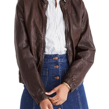 Madewell Leather Bomber Jacket | Nordstrom