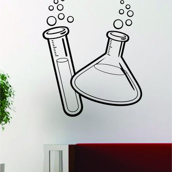 Science Beakers V2 School Class Design Decal Sticker Wall Vinyl Art Home Room Decor