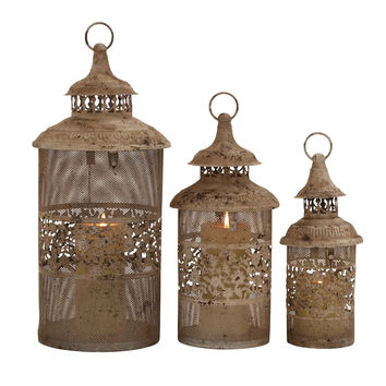 Antique Styled Classy Metal Candle Lantern