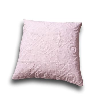 "DaDa Bedding Elegant Country Floral Rose Pink Euro Pillow Sham Cover, 26"" x 26"" (JHW860)"