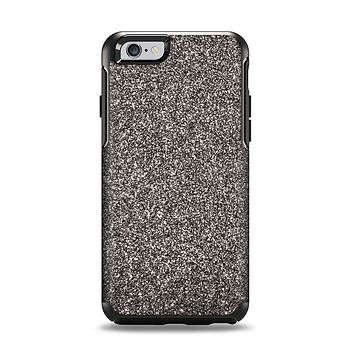 The Black Glitter Ultra Metallic Apple iPhone 6 Otterbox Symmetry Case Skin Set