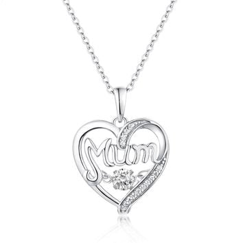 Women's Mom Sterling Silver Necklace