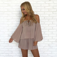Natural Beauty Romper In Mocha