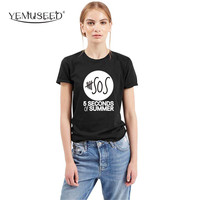 H836 Street T Shirt Women Short Sleeve Tops Tees Tshirt 5 SECONDS OF SUMMER Printed Couple T-shirts