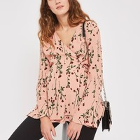 **MATERNITY Rose Bud Long Sleeve Wrap Blouse - Shirts & Blouses - Clothing