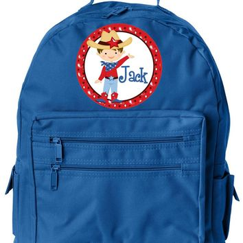 Cowboy Brown   w/Name Jr. Backpack RBL