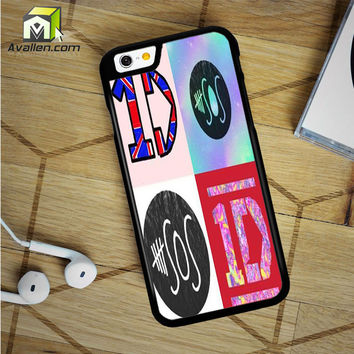 1D And 5 Sos Logo iPhone 6 Plus Case by Avallen