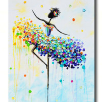 GICLEE PRINT Art Abstract Dancer Painting Colorful CANVAS Prints Dance Wall Decor Sizes to 60""