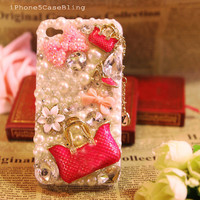 iPhone 4 Case, iPhone 4s Case, iPhone 5 Case, iPhone 5 bling Case, Bling iPhone 4 case, Unique iphone 4 case, Bow iphone 4 case handbag