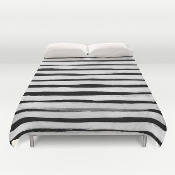 Black and White Stripes II Duvet Cover by Georgiana Paraschiv