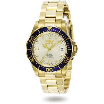 Invicta Men's 9743 Pro Diver Automatic 3 Hand Champagne Dial Watch