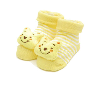 Pooh Bear  -Infant/  Baby Boy or Girl  3D Bootie Socks Anti / Non Slip 0-12 months