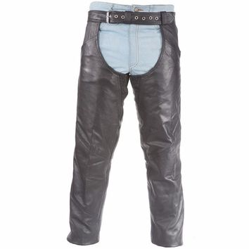 Plain Leather Chaps