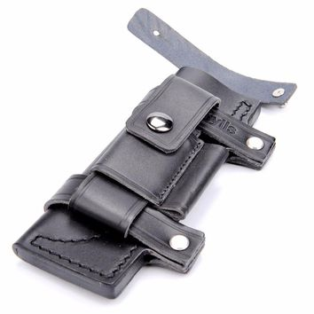 Custom-made Survival Leather Belt Sheath. Ideal For 7 in Knife.