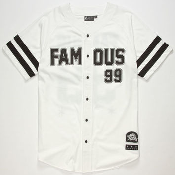 Famous Stars & Straps Legends Mens Baseball Jersey White  In Sizes