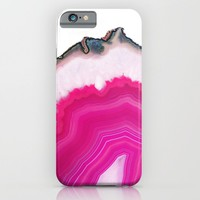 Pink Agatha Slice iPhone & iPod Case by Cafelab