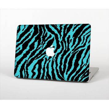 The Vector Teal Zebra Print Skin Set for the Apple MacBook Air 11""