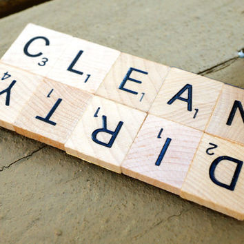CLEAN DIRTY SCRABBLE® Dishwasher Magnet - Great Gift for Housewarming, Stocking Stuffer, Wedding, Newlyweds, Welcome Gifts, or Showers