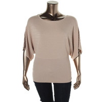 Style & Co. Womens Knit Dolman Sleeves Pullover Sweater