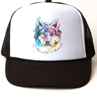 Accessory | Sunset Wolf | Trucker Hat