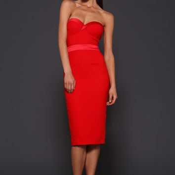 Elle Zeitoune Lorna dress (red)