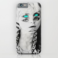 Blue eyes iPhone & iPod Case by Mrs Araneae